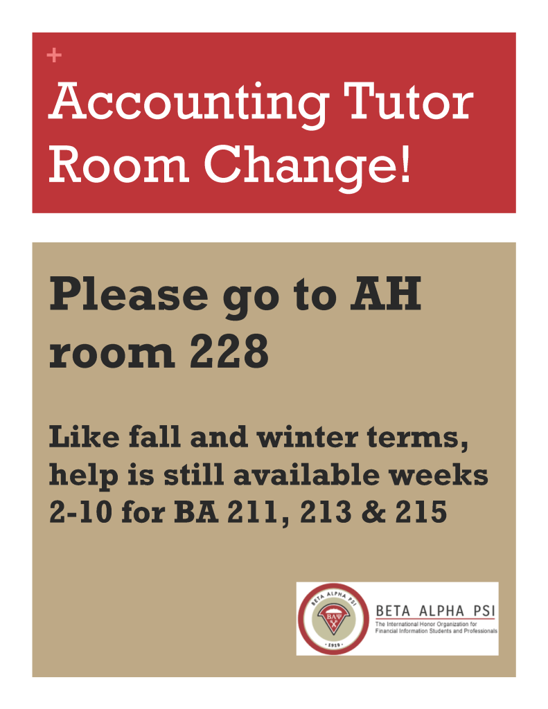 Bap tutor room change